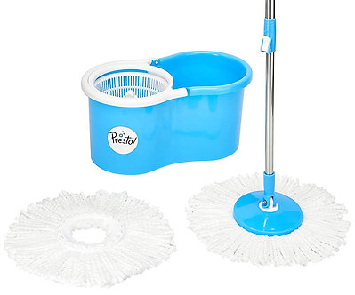 Presto! Spin Mop Set with Easy Wheels and Extra Mop Refill