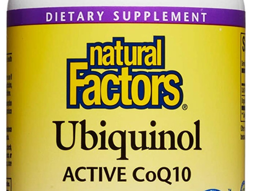 Natural Factors, Ubiquinol Active CoQ10 100mg, 120 Softgels, Coenzyme Q10 Supplement for Energy, Hea