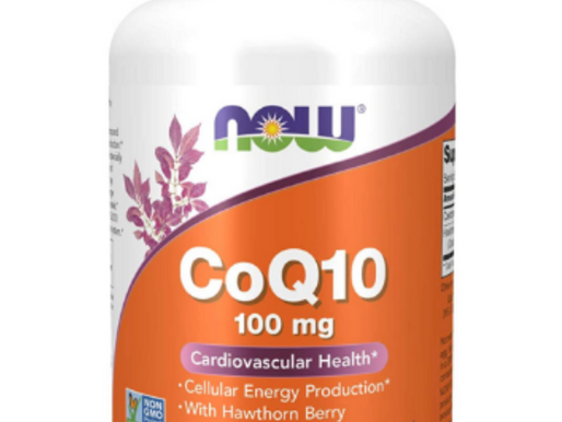 NOW Supplements, CoQ10 100 mg with Hawthorn Berry, Pharmaceutical Grade, All-Trans Form produced by