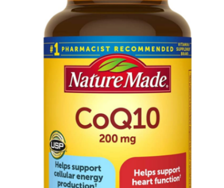 Nature Made CoQ10 for Heart Health and Cellular Energy production.