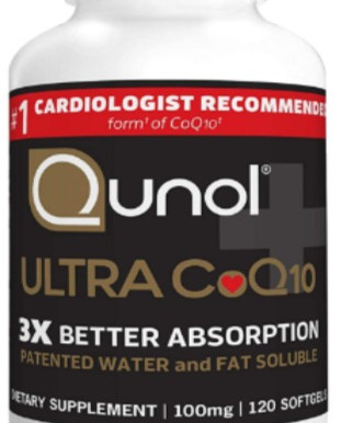 Qunol Ultra CoQ10 3x Better Absorption, Patented Water-and Fat-Soluble Natural Supplement