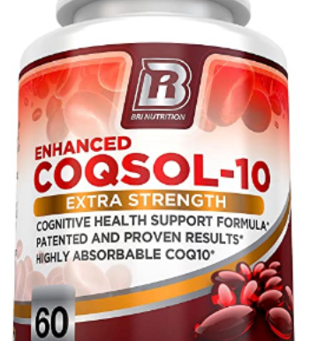 BRI Nutrition COQ10 - 2.6X Higher Total Coenzyme Q10 COQSOL®