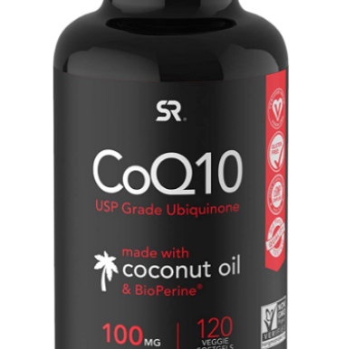 Sports Research CoQ10 Enhanced with Coconut Oil & Bioperine (Black Pepper) for Better Absorption