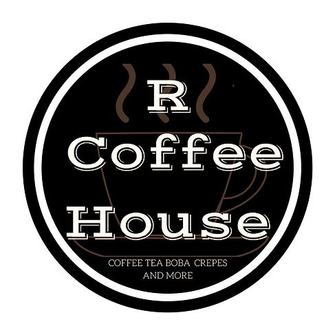 R coffee logo