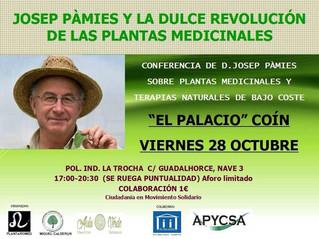 La revolución de las plantas medicinales por JOSEP PÁMIES - 28 DE OCTUBRE 2016 en Coín