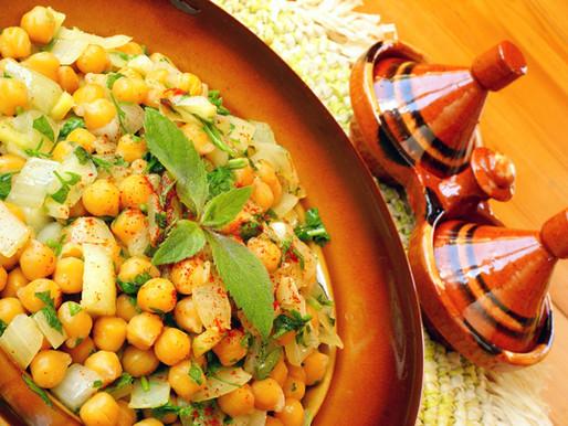 Chick peas with fresh herbs and pecorino cheese