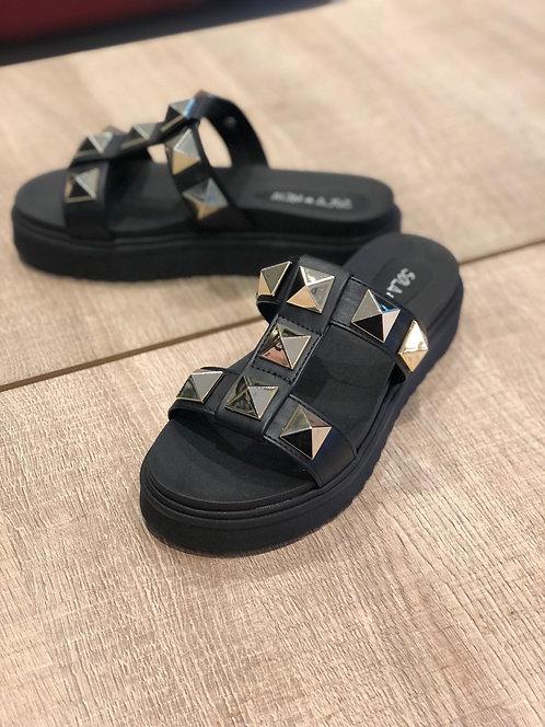 Sandália flat spike