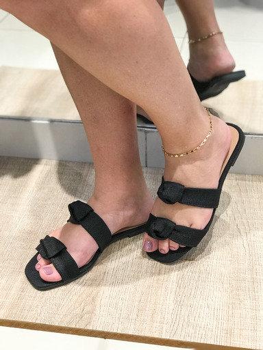 Sandália nózínho em tecido