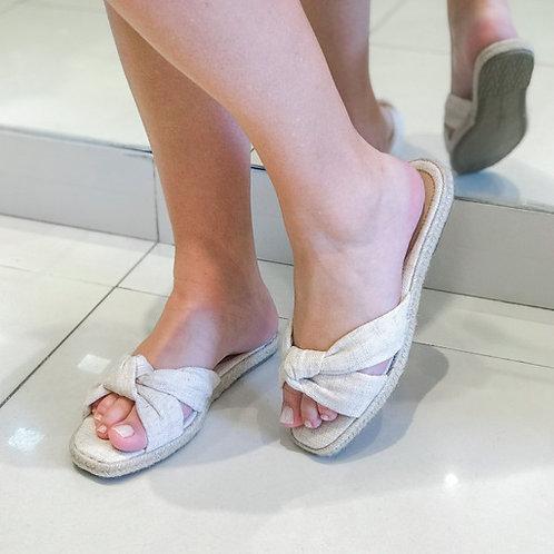Sandália flat nozinho