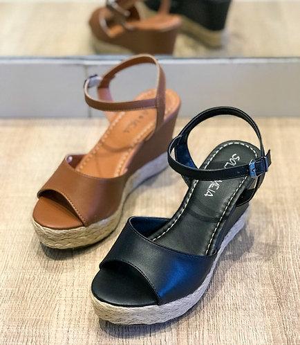 Sandália anabela básica