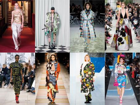 Estampas nas Semanas de Moda A/W 2018