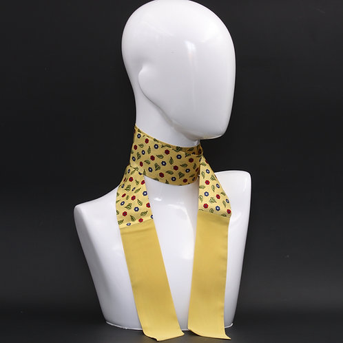Foulard Scalda collo giallo in pura seta