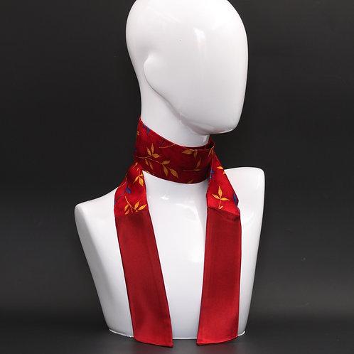 Foulard in seta rossa Scalda collo