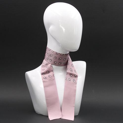 Foulard Scalda collo in pura seta rosa