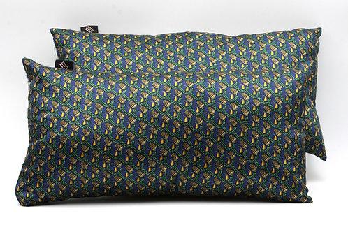 Cuscini d'arredo Rettangolari in Seta stampata idealiper letti, divani e poltrone.