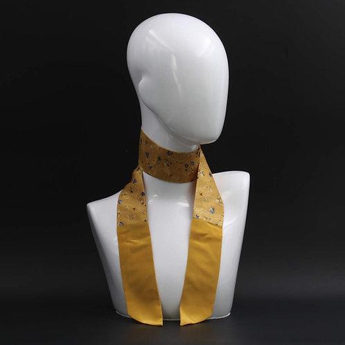 Foulard Scalda collo in pura seta giallo