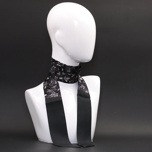 Foulard in seta nero Scalda collo