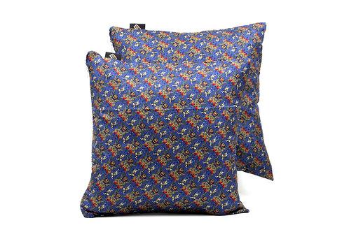 Cuscini per divani e per letti in Seta stampata blu