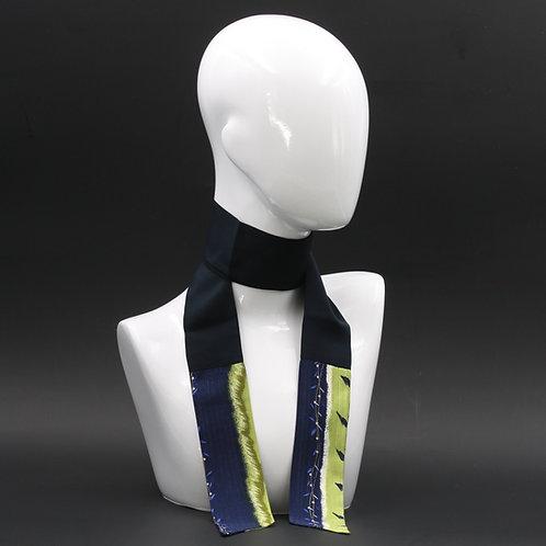 Foulard blu Scalda collo in pura seta