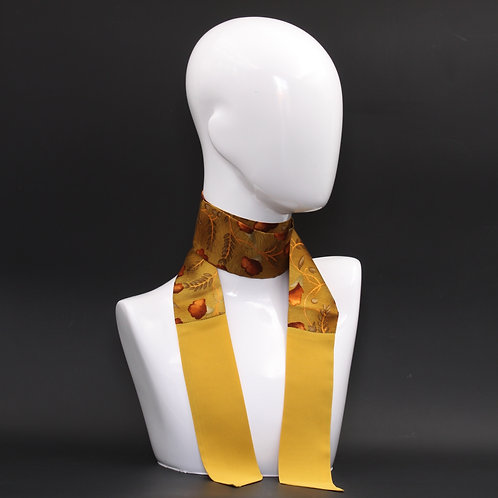 Foulard in seta gialla Scalda collo