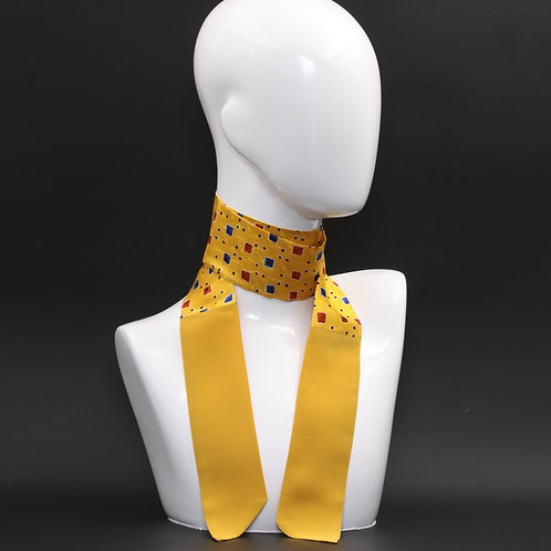 Foulard Scalda collo in pura seta giallo