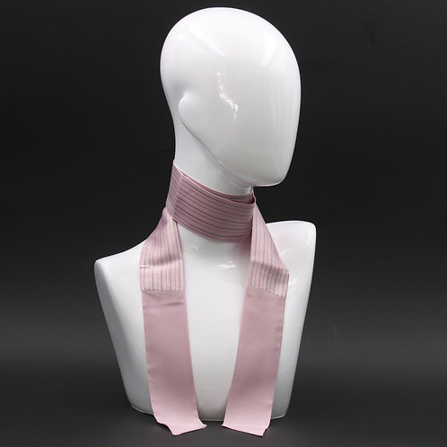Foulard Scalda collo in pura seta rosa