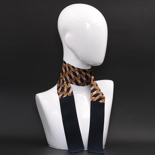 Foulard in seta nera Scalda collo