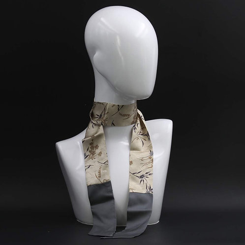 Foulard Scalda collo in pura seta grigio