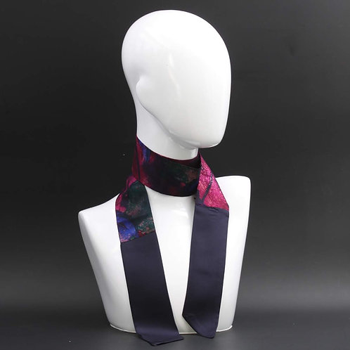 Foulard Scalda collo in pura seta viola