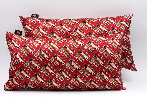 Cuscini rossicon stampa floreale