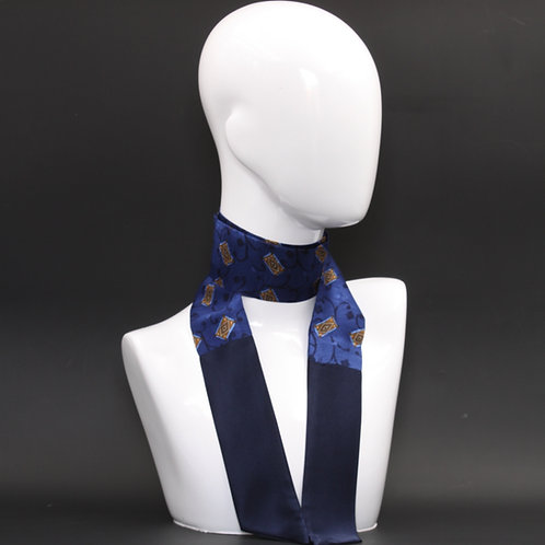 Foulard Scalda collo in pura seta blu
