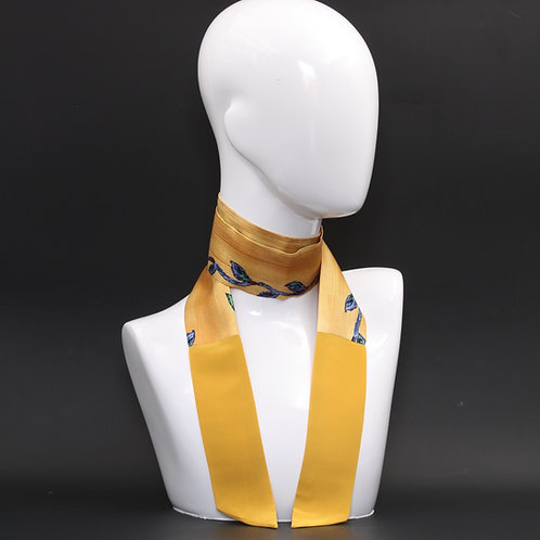 Foulard Scalda collo in pura seta gialla