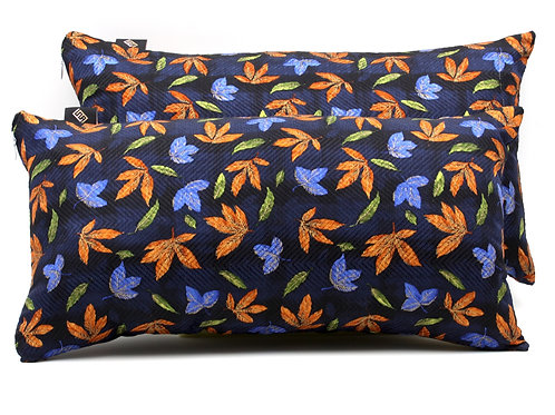 Cuscini blucon stampa floreale arancione e azzurra