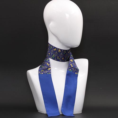 Foulard Scalda collo in pura seta blu