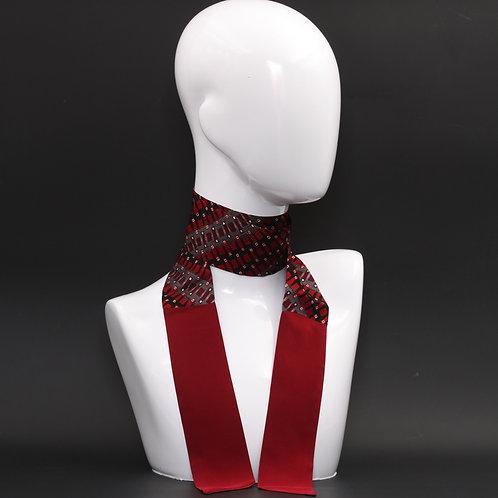 Foulard Scalda collo in pura seta rosso