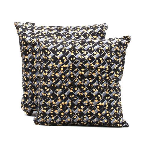Cuscino d'arredo, quadrato, in seta blu floreale, per poltrone classiche e moderne