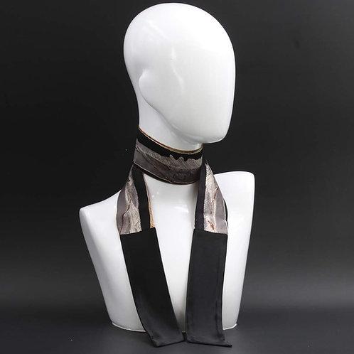 Foulard Scalda collo in pura seta nero
