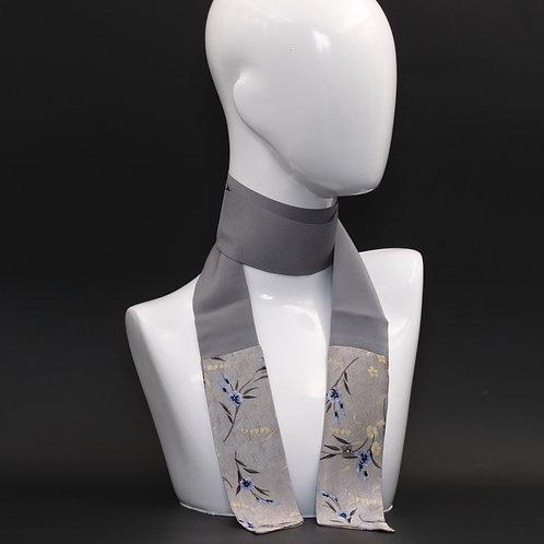 Foulard in seta grigia Scalda collo