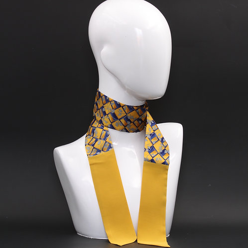 Foulard giallo Scalda collo in pura seta