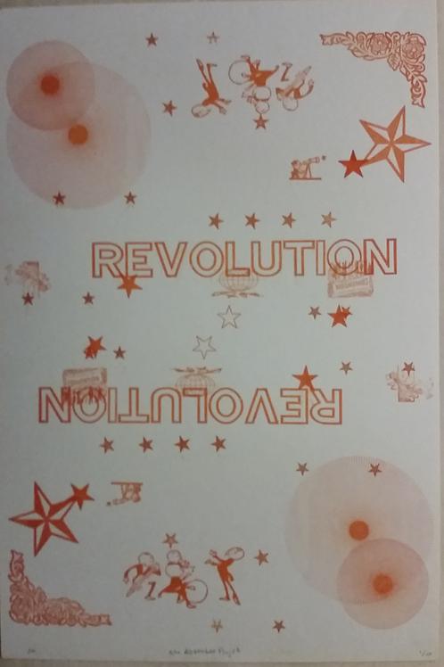 Hand Pressed Revolution Print