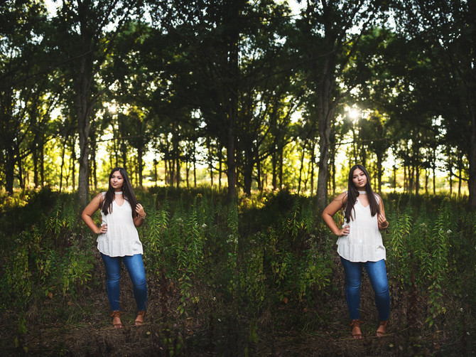 Emily Senior Session | Mahomet, IL | Lake of the Woods | St. Thomas Moore High School | Sunset Sessi