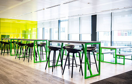 Bussu London office workplace arrangement