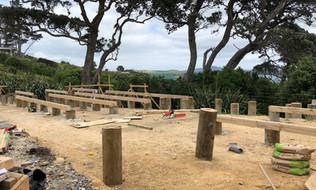 Pod bach foundations / Rakino. MBD Builders Ltd.