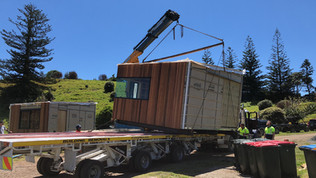Pod bach transport / Rakino. MBD Builders Ltd.