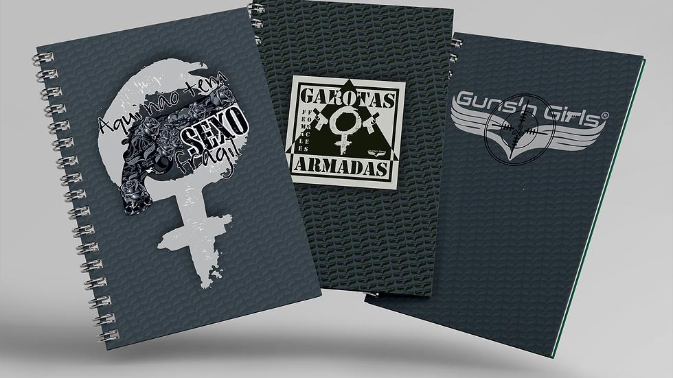 Kit 3 Cadernos Pequenos