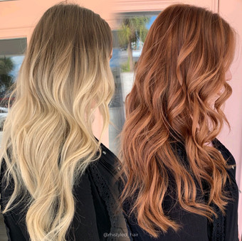 Before and After Red Transformation