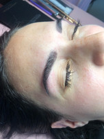 Brow wax and tint