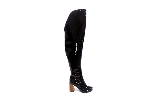 ROYAL TRASH BOOT VERNIZ PRETO