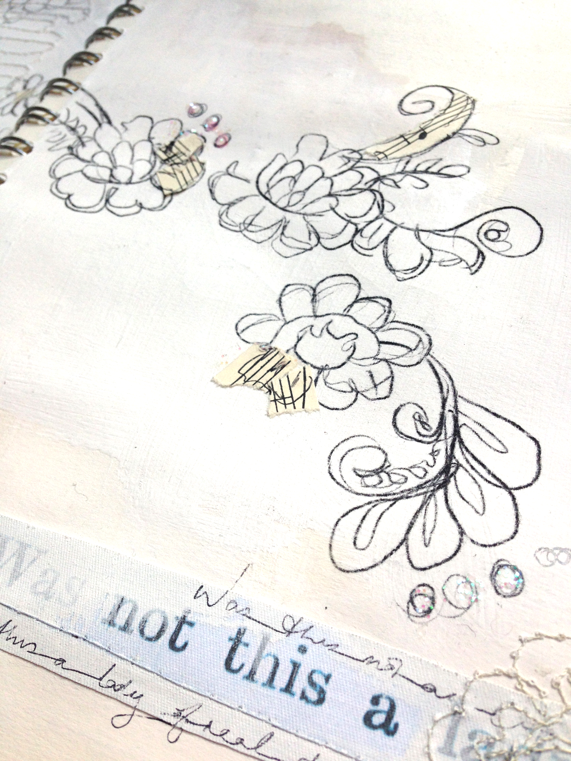 Fairytale sketchbook detail 3
