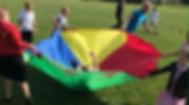 Parachute Children Playing